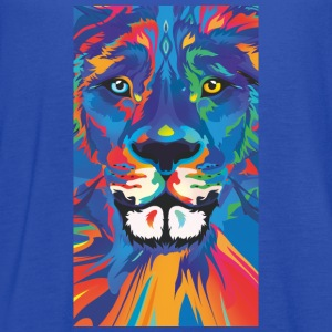 vivid color lion - Women's Flowy Tank Top by Bella