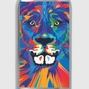 vivid color lion - Water Bottle