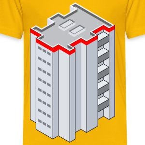 3D Isometric Building - Toddler Premium T-Shirt