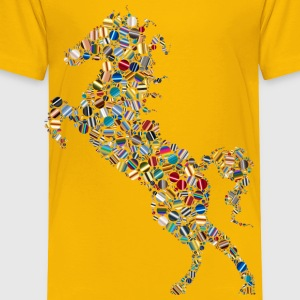 Colorful Circles Stallion 5 - Toddler Premium T-Shirt