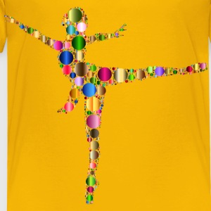 Colorful Ballet Dancer Circles 3 - Toddler Premium T-Shirt