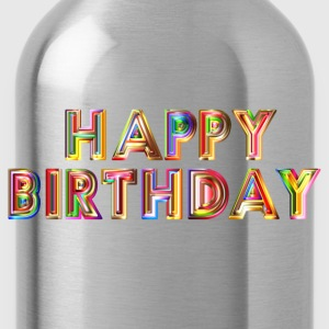 Happy Birthday Typography - Water Bottle