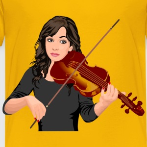 Female Violinist Portrait - Toddler Premium T-Shirt