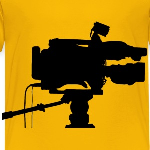 Professional Video Camera Silhouette - Toddler Premium T-Shirt