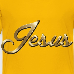 Jesus Polished Copper Typography - Toddler Premium T-Shirt