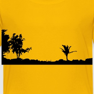 Maui Sunset Silhouette - Toddler Premium T-Shirt
