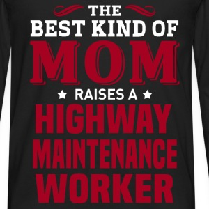 Highway Maintenance Worker MOM - Men's Premium Long Sleeve T-Shirt