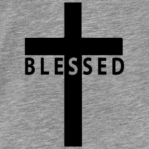 blessed cross Hoodies - Men's Premium T-Shirt