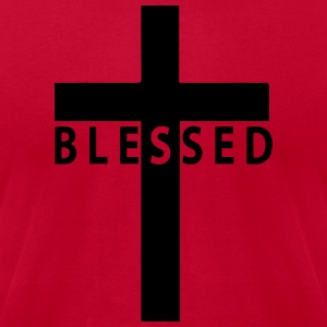 blessed cross Hoodies - Men's T-Shirt by American Apparel
