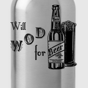 Will WOD For Beer Crossfit - Water Bottle