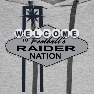 Welcome Raider Nation Mugs & Drinkware - Men's Premium Hoodie