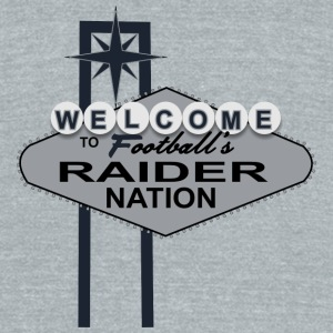 Welcome Raider Nation Mugs & Drinkware - Unisex Tri-Blend T-Shirt by American Apparel