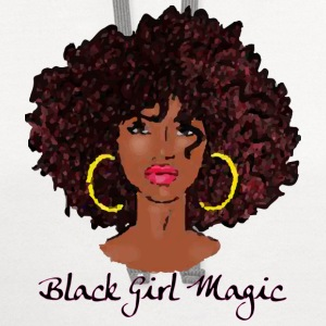 AFRO BLACK GIRL MAGIC T-Shirts - Contrast Hoodie