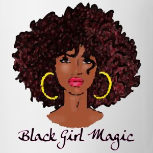 AFRO BLACK GIRL MAGIC T-Shirts - Coffee/Tea Mug
