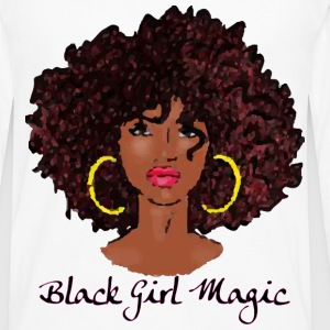 AFRO BLACK GIRL MAGIC T-Shirts - Men's Premium Long Sleeve T-Shirt