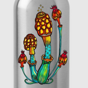 Magic mushrooms, Psychedelic, Magic, Trance, Goa,  - Water Bottle