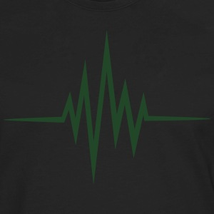 Pulse Heartbeat, Glow in the Dark Music Heart Rate - Men's Premium Long Sleeve T-Shirt