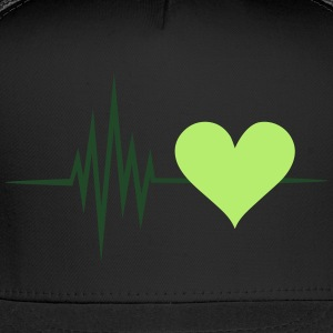 Pulse, frequency, heartbeat, vegan heart rate,  - Trucker Cap