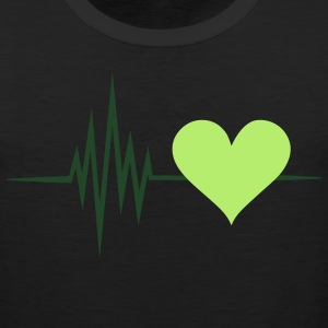 Pulse, frequency, heartbeat, vegan heart rate,  - Men's Premium Tank