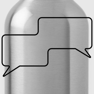 Speech Bubble, Balloon Comic Book Style, Your Text - Water Bottle