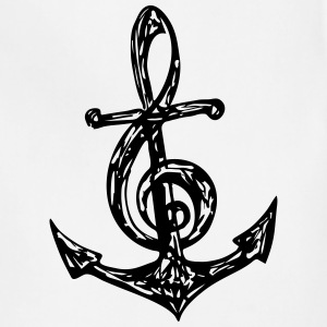 Anchor Music Note, Clef, Sailing, Musician, Bass,  - Adjustable Apron