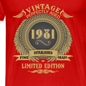 Vintage Perfectly Aged 1981 Limited Edition Tanks - Men's Premium T-Shirt