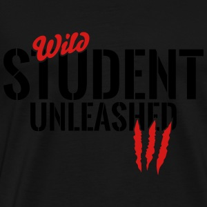 Wild student unleashed Tanks - Men's Premium T-Shirt