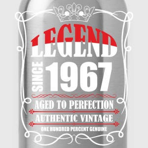 Legend since 1967 Aged to Perfection Authentic Vin T-Shirts - Water Bottle