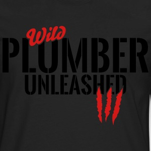 Wild plumber unleashed T-Shirts - Men's Premium Long Sleeve T-Shirt