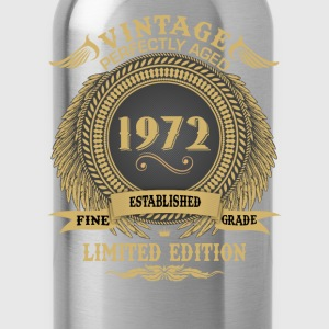 Vintage Perfectly Aged 1972 Limited Edition T-Shirts - Water Bottle