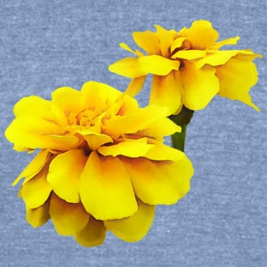 Two Yellow Marigolds Long Sleeve Shirts - Unisex Tri-Blend T-Shirt by American Apparel
