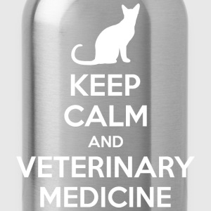 Keep Calm And Veterinary Medicine Cat T-Shirts - Water Bottle
