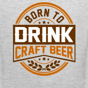 born to drink 12.png T-Shirts - Men's Premium Tank