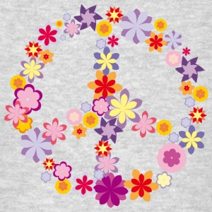 Peace symbol with flowers Sportswear - Men's T-Shirt