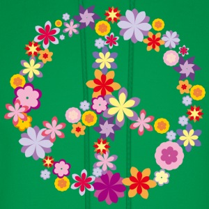Peace symbol with flowers T-Shirts - Men's Hoodie