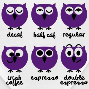 Funny Owls with Coffee Chart T-Shirts T-Shirts - Bandana