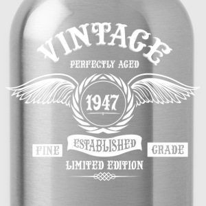 Vintage Perfectly Aged 1947 T-Shirts - Water Bottle