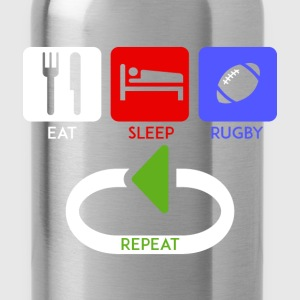Rugby - Eat, Sleep, rugby, repeat - Water Bottle