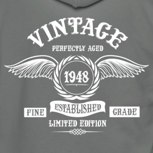 Vintage Perfectly Aged 1948 T-Shirts - Unisex Fleece Zip Hoodie by American Apparel