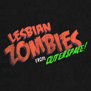 Lesbian Zombies from Outer Space logo mug - Men's Premium T-Shirt