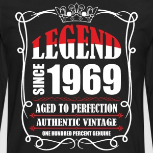 Legend since 1969 Aged to Perfection Authentic Vin T-Shirts - Men's Premium Long Sleeve T-Shirt