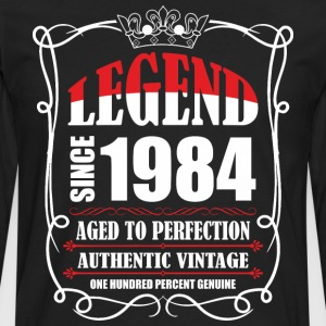 Legend since 1984 Aged to Perfection Authentic Vin T-Shirts - Men's Premium Long Sleeve T-Shirt