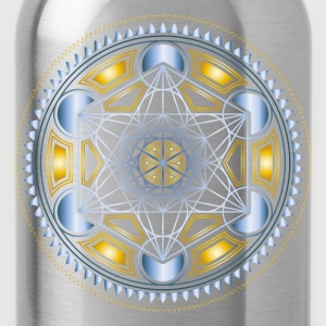 METATRONS CUBE, FLOWER OF LIFE, SPIRITUALITY T-Shi - Water Bottle
