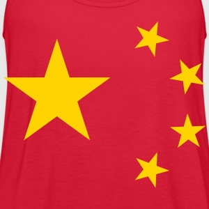 China Flag T-Shirts - Women's Flowy Tank Top by Bella