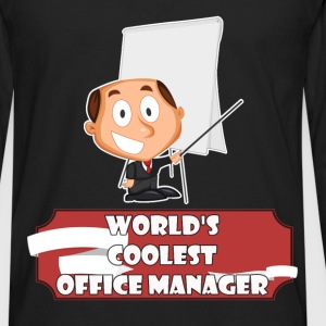 Office Manager - World's coolest Office Manager - Men's Premium Long Sleeve T-Shirt