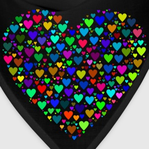 Colorful Heart Fractal - Bandana