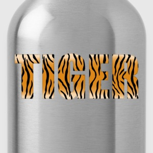 Tiger Typography Enhanced - Water Bottle