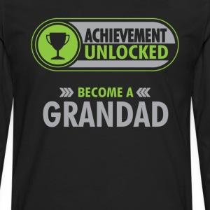 Grandad Achievement Unlocked T-Shirt T-Shirts - Men's Premium Long Sleeve T-Shirt