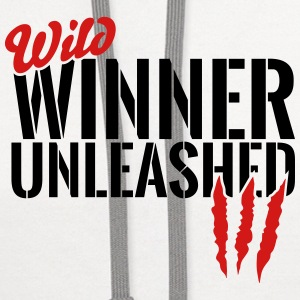 wild winner unleashed Kids' Shirts - Contrast Hoodie