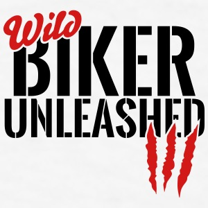 wild biker unleashed Mugs & Drinkware - Men's T-Shirt